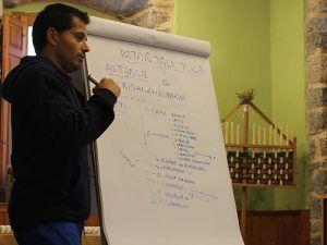 Oscar Montero, profesor de vinyasa krama yoga en León.