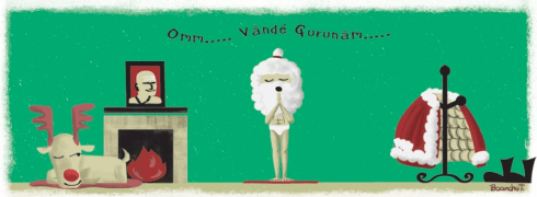 postales de Navidad para yoguis