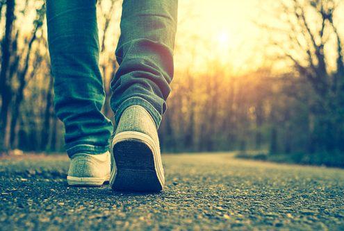 meditación caminando