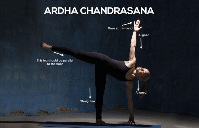 Ardha chandrasana 2